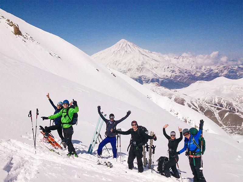 ski season in Iran