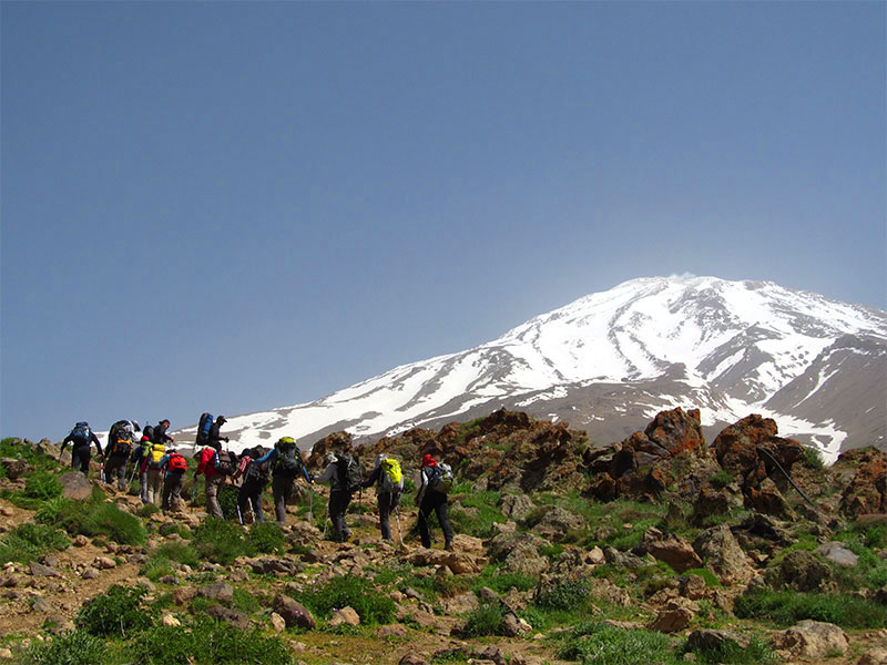 hiking in Iran-Damavand