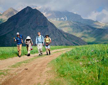 hiking in Iran